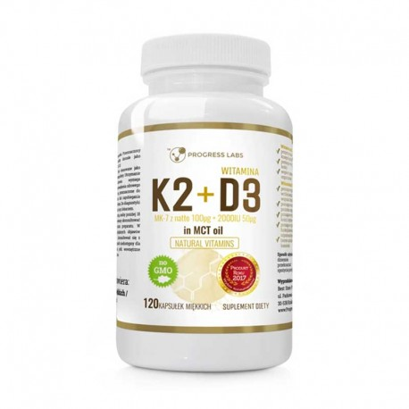 K2+D3 in MCT Oil 120 softgels